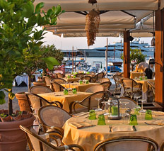 Romantic restaurant in Capri